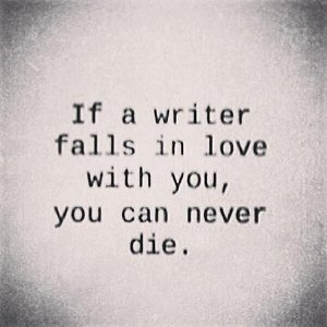 fall in love with a writer